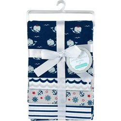 Cribmates Baby Boys 4-pc. Nautical Receiving Blankets