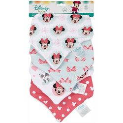 Disney Minnie Mouse Baby Girls 4-pk. Bandana Bibs