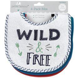 Petite L'Amour Baby Boys 4-pk. Wild & Free Bibs
