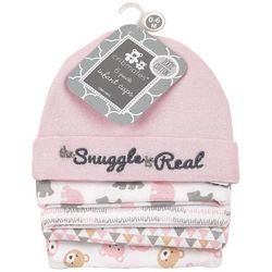 Cribmates Baby Girls 5-pk. The Snuggle Is Real Caps