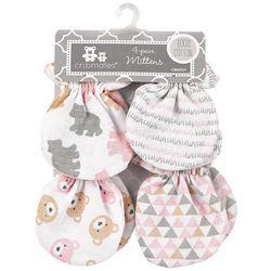 Cribmates Baby Girls 4-pk. Bear Mittens