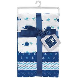 Cribmates Baby Boys 4-pk. Whale Receiving Blankets