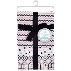 Petite L'Amour Baby Girls 4-pk. Geometric Receiving Blankets