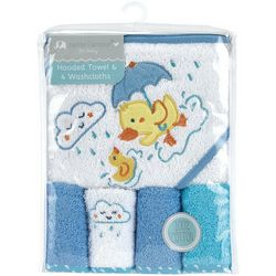 Petite L'Amour Baby 5-pc. Hooded Duck Towel & Washcloth Set
