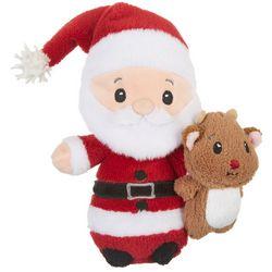 First & Main Christmas Santa Reindeer Plush Toy