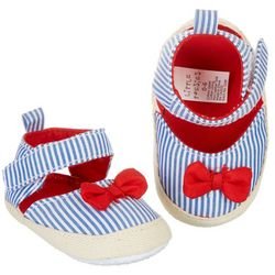 Danbar Baby Girls Striped Espadrille Shoes
