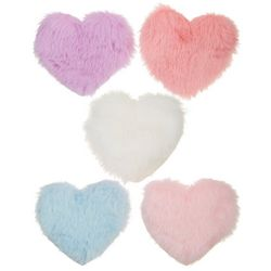 Ava Olivia Baby Girls 5-pk. Fur Heart Hair Clip Set