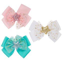 Ava Olivia Baby Girls 3-pk. Star Center Hair Bow Set