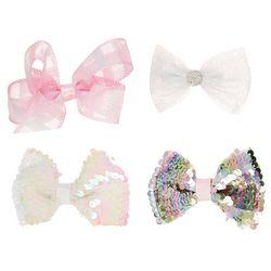 Ava Olivia Baby Girls 4-pk. Sequin Hair Bow Set