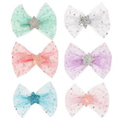 OMG Baby Girls 6-pk. Mesh Star Center Hair Bow Set