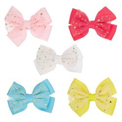 Ava Olivia Baby Girls 5-pk. Sparkle Stars Hair Bow Set