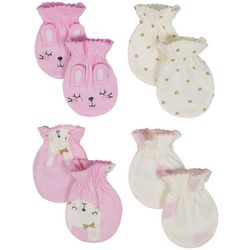 Just Born Baby Girls 4-pk. Bunny Mittens