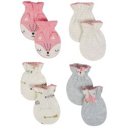 Just Born Baby Girls 4-pk. Fox Mittens