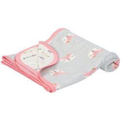 Just Born Baby Girls Fox Swaddle Blanket