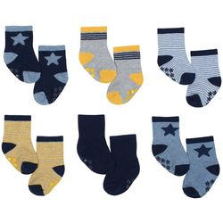 Just Born Baby Boys 6-pk. Star Grippy Bottom Socks