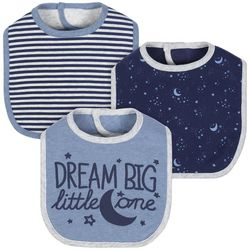 Just Born Baby Boys 3-pc. Dream Big Little One Bibs