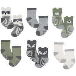 Just Born Baby Boys 6-pk. Critter Grippy Bottom