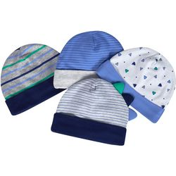 Just Born Baby Boys 4-pc. Organic Dino Hat Set