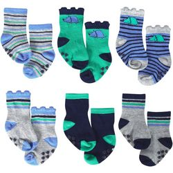Just Born Baby Boys 6-pk. Dino Grippy Bottom Socks