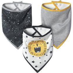 Just Born Baby Boys 3-pk. Organic Lion Bandana Bibs