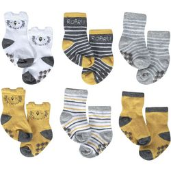 Just Born Baby Boys 6-pk. Lion Grippy Bottom Socks