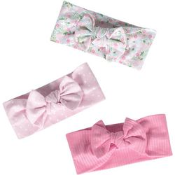 Just Born Baby Girls 3-pc. Llama Bow Headband Set