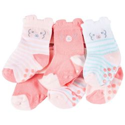 Just Born Baby Girls 6-pk. Llama Grippy Bottom Socks
