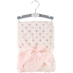 Baby Lounge Baby Girls Foil Dots Lux Blanket