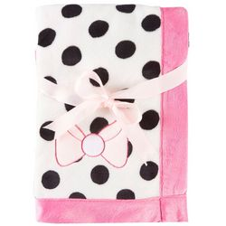 Baby Lounge Baby Girls Polka Dots & Bow Blanket