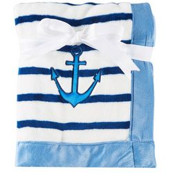 Baby Lounge Baby Boys Stripe Anchor Blanket