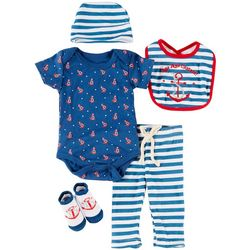 Baby Lounge Baby Boys 5-pc. Nautical Anchor Layette Set