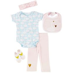 Baby Lounge Baby Girls 5-pc. Little Princess Layette Set