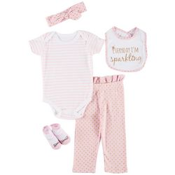 Baby Lounge Baby Girls 5-pc. Sparkling Layette Set