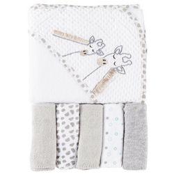 Baby Lounge Baby Boys 6-pc. Giraffe Towel & Washcloths Set