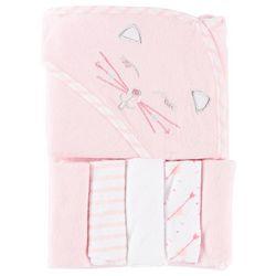 Baby Lounge Baby Girls 6-pc. Kitty Towel & Washcloths Set