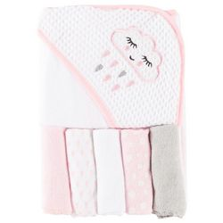 Baby Lounge Baby Girls 6-pc. Rain Cloud Towel & Washcloths