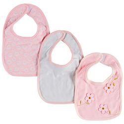 Baby Lounge Baby Girls 3-pk. Floral Bibs