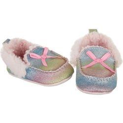 Rising Star Baby Girls Rainbow Glitter Moccasins