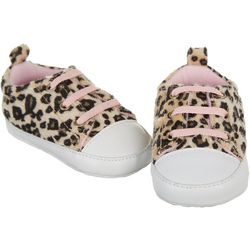 Rising Star Baby Girls Leopard Print Sneakers