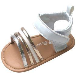 ABG Baby Girls Metallic Strappy Sandals