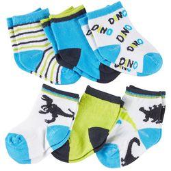 Rising Star Baby Boys 6-pk. Dino Socks