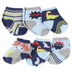 Rising Star Baby Boys 6-pk. Dinosaur Socks