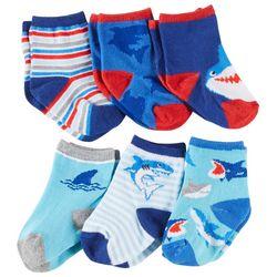 Rising Star Baby Boys 6-pk. Shark Socks