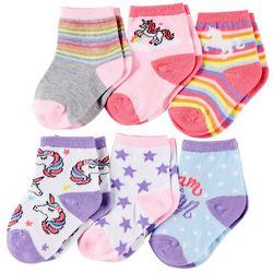 Rising Star Baby Girls 6-pk. Unicorn Socks