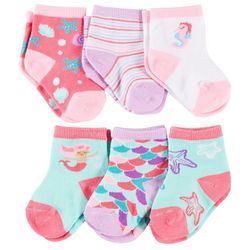 Rising Star Baby Girls 6-pk. Mermaid Socks