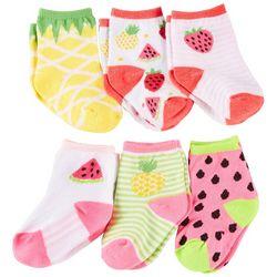 Rising Star Baby Girls 6-pk. Fruit Socks