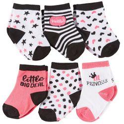 Rising Star Baby Girls 6-pk. Princess Socks