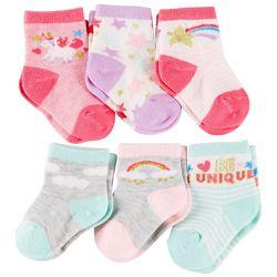 Rising Star Baby Girls 6-pk. Be Unique Socks