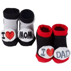 Rising Star Baby Boys 2-pc. Love Mom & Dad Socks Set