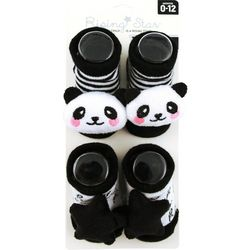 Rising Star Baby Girls 2-pc. Panda Star Socks Set